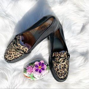 Ann Klein Iflex Leopard Print Flats Loafers Size 6